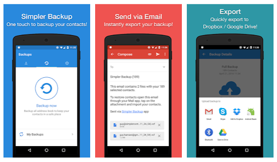 Easy Backup makes backing up your contacts a breeze