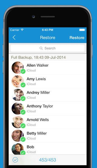 Restore deleted contacts on any iPhone device